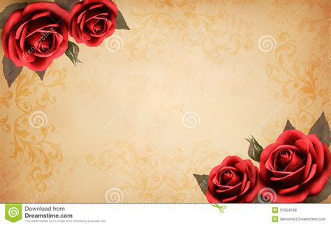 Roses Essay by Retro Background With Beautiful And P Stock Vector Illustration Of Decorative