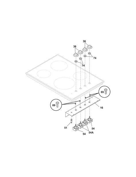 frigidaire electric cooktop parts model fecsabf