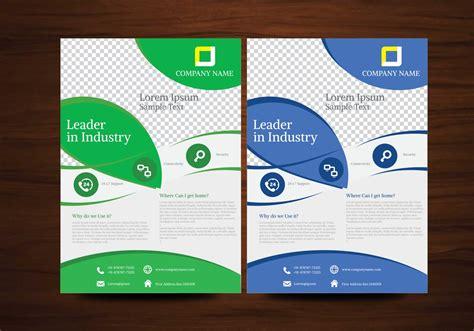 Blue And Green Vector Brochure Flyer Design Template Download Free Vector Art Stock Graphics Graphic Design Templates Free