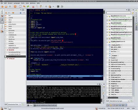 layout editor python pida python integrated development application a python