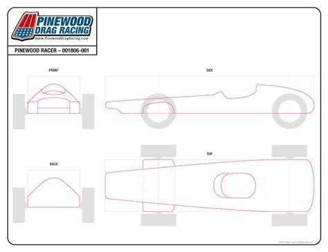 pinewood derby car free templates free pinewood derby template by customs 001806