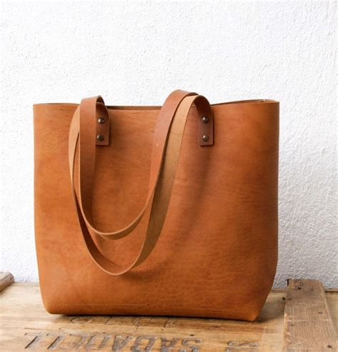 custom order for h camel leather tote bag with the agreed