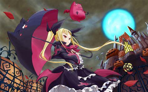 anime girl halloween wallpaper anime halloween wallpapers wallpaper cave