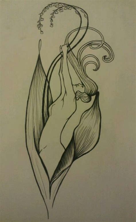 art deco tattoo design nouveau design