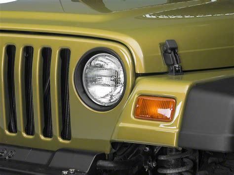 jeep wrangler headlight bezel redrock 4x4 wrangler matte black headlight bezels j100728