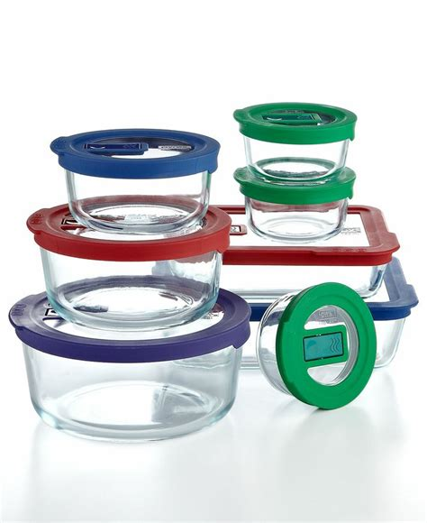 pyrex glass storage containers pyrex 16 no leak storage set with vent tab lids