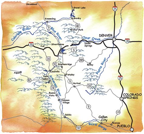 blue river colorado map images performance tours brochure and rafting maps colorado