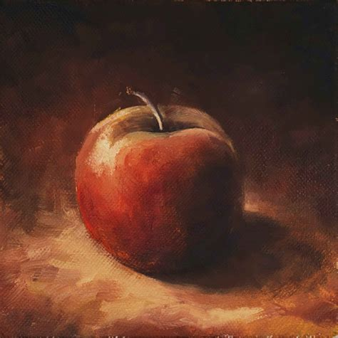 painting for mac apple painting painted on canvas 15 x 15 cm