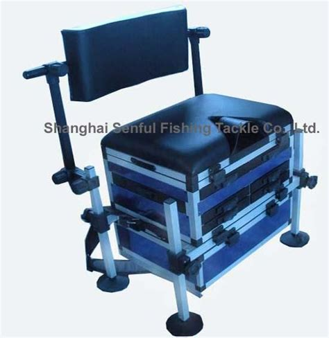 fishing boxes with seat fishing seat box with rotating backrest se10032