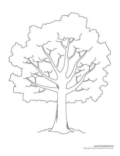 tree pattern without leaves coloring page tree tree templates tree printables