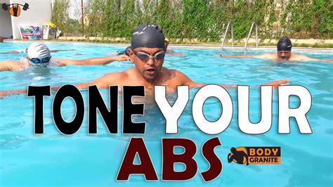 tone  abs  pool pool workout  abs exercises