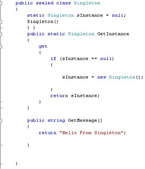 singleton pattern exle c singleton design pattern in c techbubbles