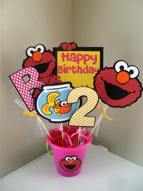 Mitzs Creations New Elmo Party Items Elmo Centerpieces Decorations