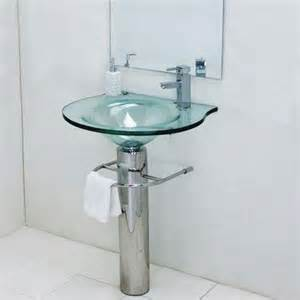 Bathroom Vanity For Pedestal Sink Glass Pedestal Sink Ebay
