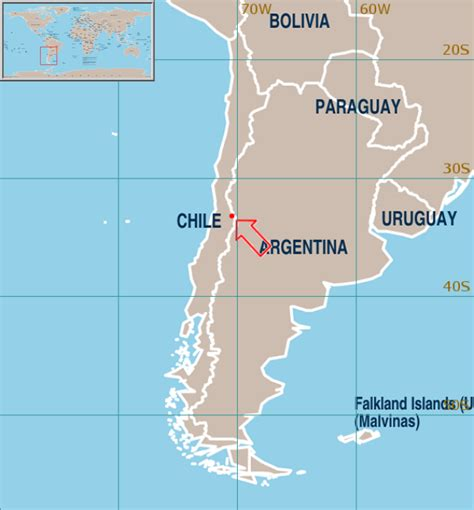 santiago chile on world map where is santiago chile on the world map