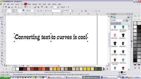 corel draw x6 to x4 converter converting text to curves a corel draw how to youtube