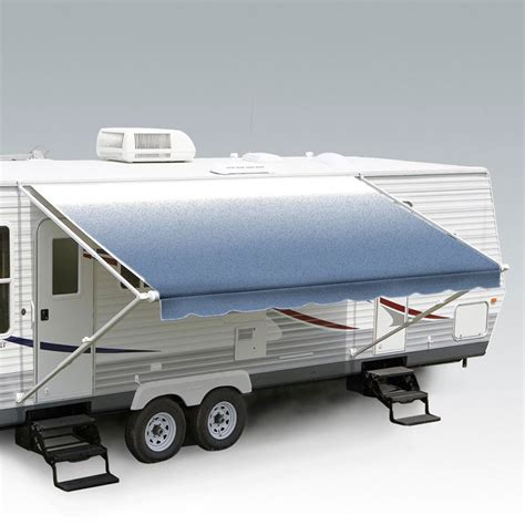 carefree fiesta awning caravansplus carefree fiesta awning 15ft blue shale fade fabric on roll no arms