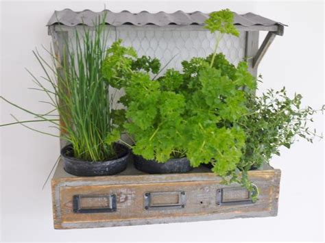 herb planter wooden market stall herb planter