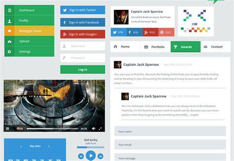 web design ui meaning 25 flat ui kits for web designers webdesigner depot