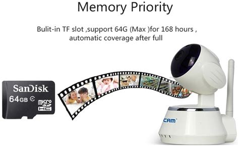 Escam Qf510 Wireless Ip Cctv Tf Card 1 4 Inch Cmos 720p Wifi escam secure qf510 wireless ip cctv 1 4 inch