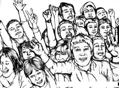 dibujos de servidores pblicos para colorear dibujo de publico en un concierto para pintar y colorear
