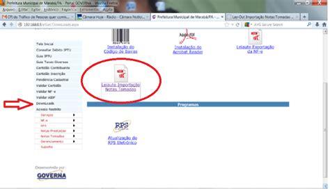 baixar layout it blog da segfaz notas fiscais tomadas em outros munic 237 pios