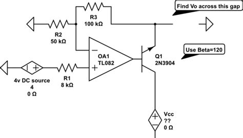 transistor lifier for dummies op find vo in an op transistor circuit electrical engineering stack exchange