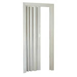 Accordion Closet Doors Spectrum 36 In X 80 In Oakmont Vinyl White Accordion Door Hok32 3680f The Home Depot