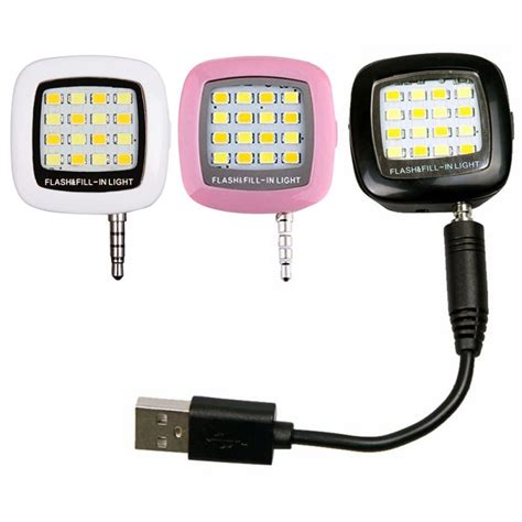 Lu Selfie Flash Light Led 16 Universal Smartphone Android Iphone sony ericsson reviews shopping sony