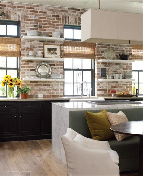 brick wall in kitchen brick accent wall in kitchen by kevin spearman of