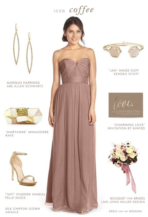 Wedding Accessories For Bridesmaids by Beige Bridesmaid Dress