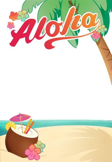 hawaiian menu template luau free printable summer invitation