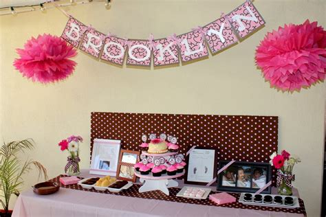 Pink And Brown Baby Shower Decorations by Polka Dot Baby Shower Decorations Best Baby Decoration