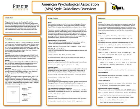 learning styles research paper a handy classroom poster on apa style educational