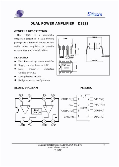 transistor and lifier pdf d2822 109260 pdf datasheet ic on line