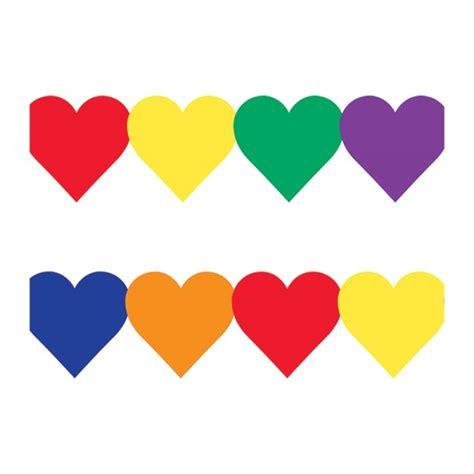 border color html colored hearts border