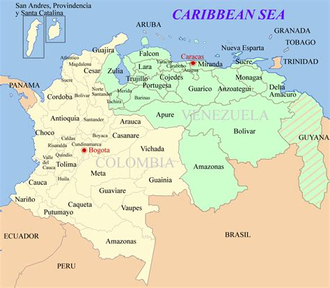 imagenes de venezuela y colombia archivo colombia venezuela map png wikipedia la