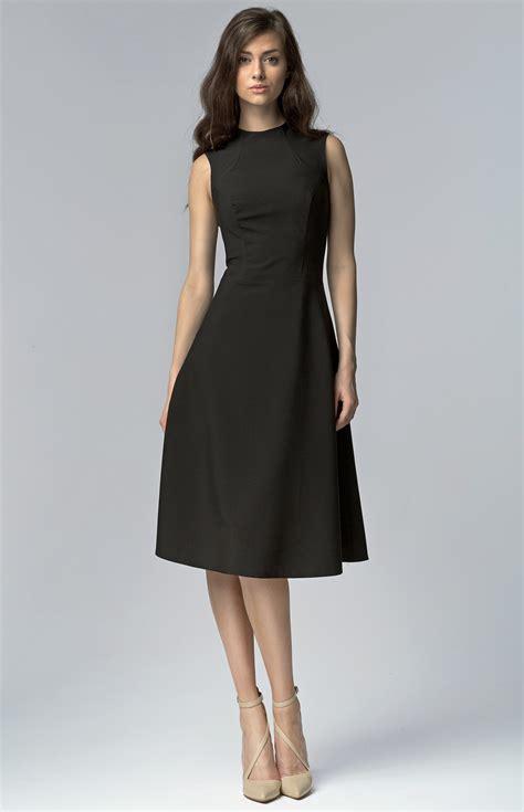 robe de cocktail black sleeveless flared cocktail dress nis62n