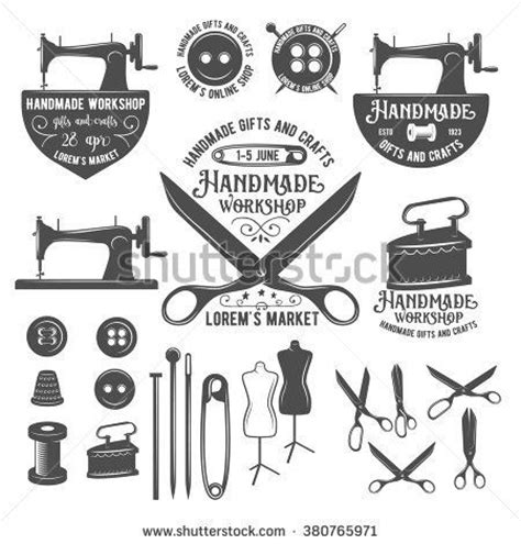 vintage design meaning set of vintage sewing labels badges design elements and