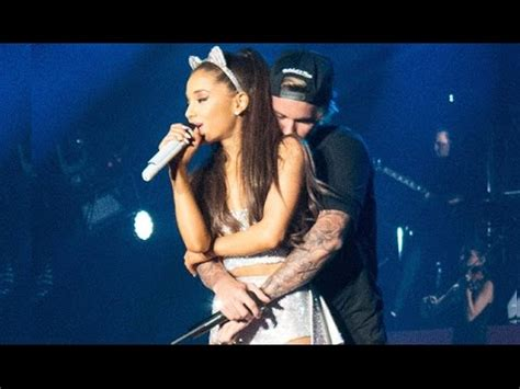 Justin Bieber Gropes Ariana Grande In Concert   YouTube