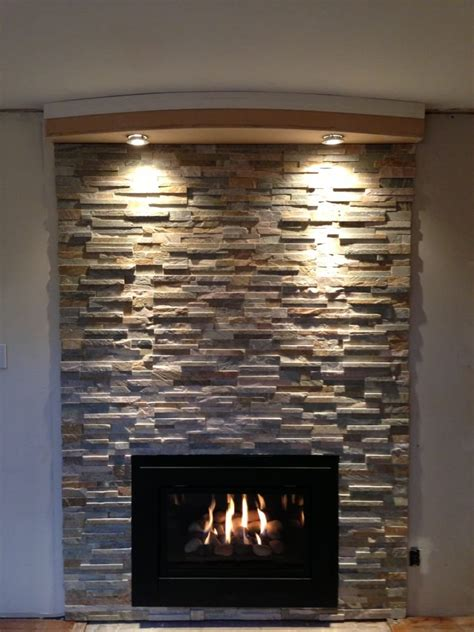 Cappella fireplace insert modern style with Placer Gold