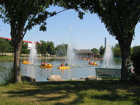 paddle boat rentals beloit wi beloit lagoon paddle boats and fountains taken on father
