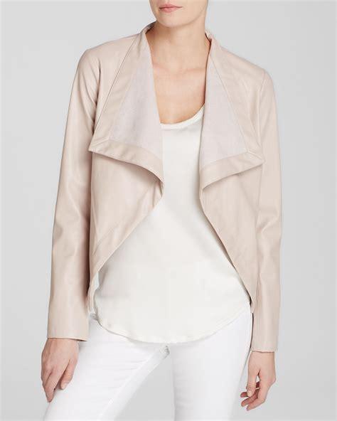 bb dakota drape jacket bb dakota jacket lillian faux leather drape in pink
