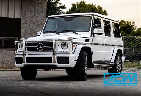 mercedes g wagon 2016 2016 mercedes g wagon in 3m satin white atlanta custom wraps