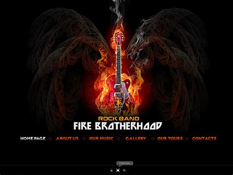 Rock Band Flash Website Template Best Website Templates Rock Band Web Template