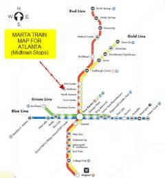 Marta Atlanta Map by Gold Line Marta