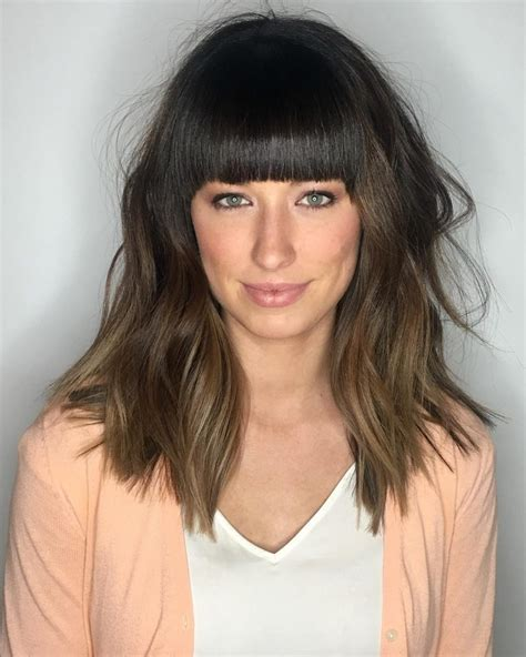 36 popular medium length hairstyles with bangs updated