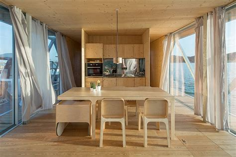 floating home tour floatwing designed by friday modular prefabricated floating house by friday