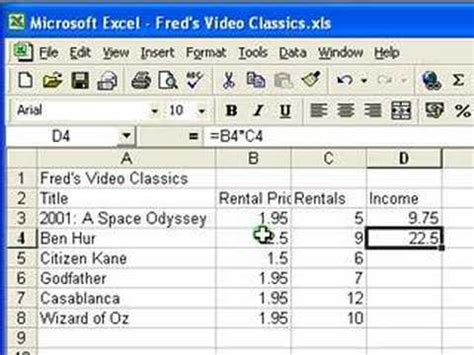 video tutorial excel microsoft excel tutorial for beginners 3 calculations