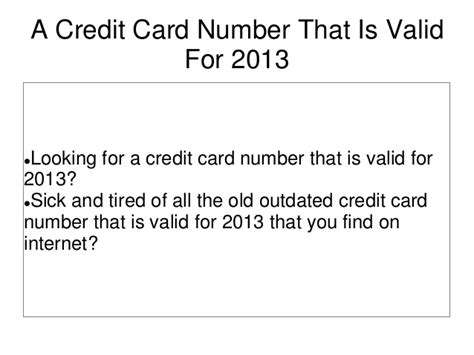 how to make a valid credit card number a credit card number that is valid for 2013